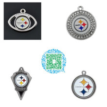 Skyrim 4 Styles Pittsburgh Steelers football charms enamel crystals paster workmanship high quality accessory for jewelry making(China)