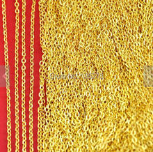 16ft 5 Meters 2X3MM Gold Plated Brass Flat Oval Cable Link Chain Jewelry Findings - DIY Jewelry Accessory Making