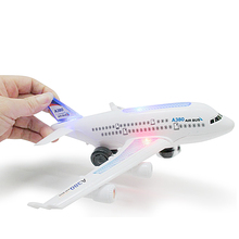 Kids Toys Electric Aircraft Air Bus Model Flashing LED Light Kids Musical Airplane Toys Planes for Children aviones de juguete(China)