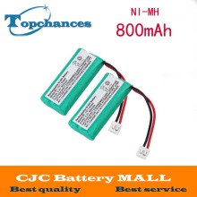 2pcs 2.4V 800mAh Ni-MH Cordless Phone Battery for Uniden BT-1011 BT-1018 BT1011 BT1018 BT-694(China)