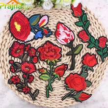 Prajna 1Pcs Design Lace Sequins Flowers Embroidered Patches For Clothes Iron On Clothing Appliqued DIY Craft Ornament Stickers A