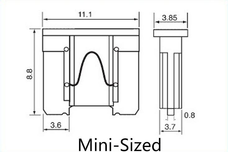 2pcs Waterproof Mini Small Medium In-Line Auto Fuse Holder 16AWG + 2pcs Fuse Inserts 2A 3A 5A 7.5A 10A 15A 20A 25A 30A 35A 40A