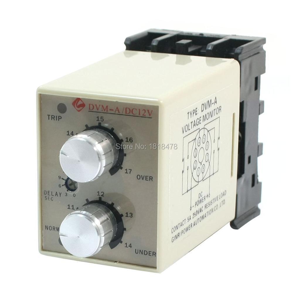 Adjustable Over/Under Voltage Monitoring Relay  DVM-A/12V DC 12V<br><br>Aliexpress
