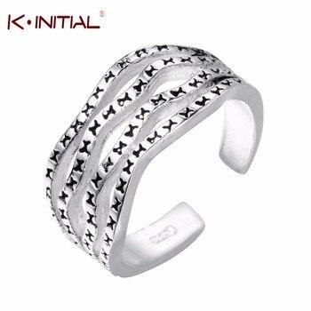 Kinitial 925 Sterling Silver Ring Women