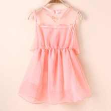 Factory Price! Baby Kids Girl Princess Sheer Tulle Tutu Dress Lace Vest Party Sundress S M L XL