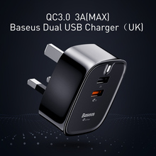 Baseus Double USB Charger For iPhone iPad Portable UK Charger Plug Travel Wall Charger Adapter QC3.0 Dual USB USB Quick Charger