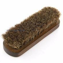 Horse Hair Brush Shoes Boots Polishing Buffing Shine Cleaning Suede Cleaner 17cm 070-024(China)