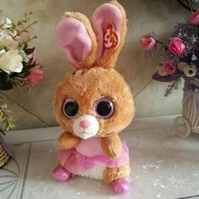 "25CM 10"" Ty Beanie Boos Plush Toy Big Eyed twinkle toes bunny rabbit Stuffed Animal Doll Kids Toy Birthday Gift Soft Kawaii"