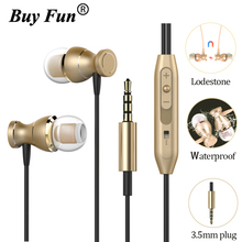 Magnetic Earphones In-Ear Metal 3.5mm Super Bass Stereo Earbuds With Mic For iPhone Samsung Sony LG Xiaomi Mobile Phone MP3 MP4