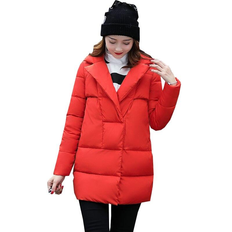 Fashion girl autumn winter coat jacket 2017 new thick women parka long casual ladies coats and jackets outerwear pink 1845Îäåæäà è àêñåññóàðû<br><br>