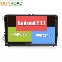 Android 7.1 1024*600 Car Multimedia DVD Headunit Player for VW GOLF 5 6 Polo Passat Tiguan CC Radio Stereo RDS 4G 2G RAM 32G ROM