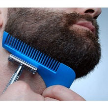 Dropshipping Gentleman Hair Trimmer Beard Bro Comb Beard Shaping Styling Template Carding Tools Sexy man Gentleman(China)