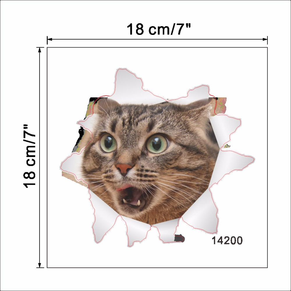 Cats 3D Wall Sticker Toilet Stickers Hole View Vivid Dogs Bathroom Cats 3D Wall Sticker Toilet Stickers Hole View Vivid Dogs Bathroom HTB19iHmmnnI8KJjSszbq6z4KFXaY