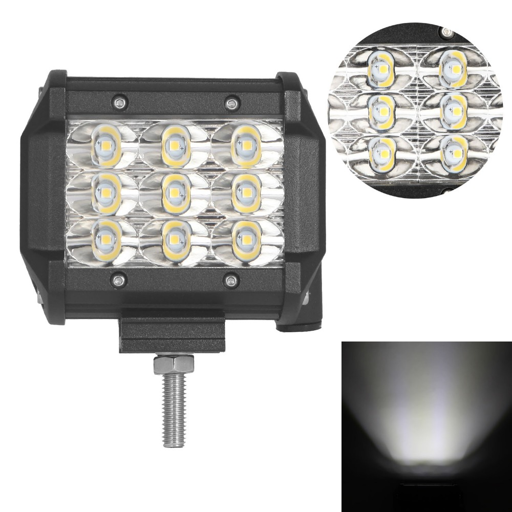4 inch 36W Tri-Row Off-road LED Light SPOT/FLOOD Beam LED Work Light Bar for Jeep 4WD 4X4 Boat SUV ATV Truck<br>