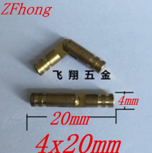 50PCS 4 x 20mm 4mm Brass Barrel Hinge Round Cylindrical Hidden Cabinet Hinges Concealed Invisible Mortise Mount Hinge