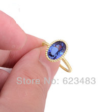 SOLID 14K YELLOW GOLD NATURAL VIOLET BLUE TANZANITE BAGUETTE . RING