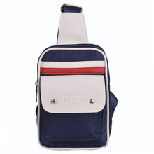 free shipping new fashion brand men's chest bag male chest pack messenger bolsa good pu leather wholesale famous stripes design