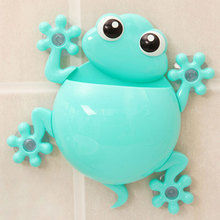 1pc Lovely Frog Toothbrush Wall Suction Bathroom Sets Cartoon Sucker Animal Toothbrush Holder Suction Hooks(China)
