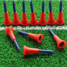 Top Sale 50Pcs/Lot Golf Tee Holder Golf Plastic Tees Beginner Trainer Practice Training Equipments Outdoor Sports Tees Random