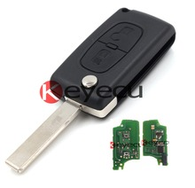 Keyecu Folding Remote Key 2 Button with internal circuit board and ID46 chip for Peugeot 307,433MHZ 0536 Model up to 20110416(China)