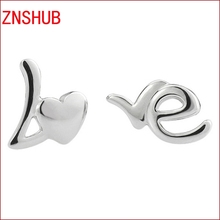 2017 New Stylish Simplicity Cute Earrings 925 Sterling Silver Letters I Love You DesignEarrings Wholesale Jewelry Manufacturers