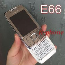 Original Nokia E66 Mobile Phone 2G 3G Unlocked Refurbished E66 Slider Phone Arabic Russian Keyboard(China)