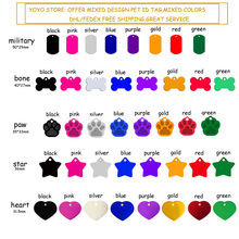 hot sale id pet tags anodized aluminum dog tags mixed colors assorted types free shipping