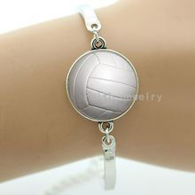 Fashion pure white volleyball bracelet beach volleyball picture casual sports jewelry Autumn Landscape bracelets women men T858