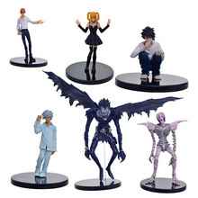Anime Death Note figure L Killer Ryuuku Rem Misa Amane PVC Action Figures Toys 6pcs/set Y6285