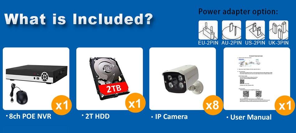 8ch poe security kit K8N76W54I2T-PHDD 7-2