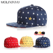 MOLIXINYU 2017 New Fashion Five Stars Unisex Child Snapback Hat Baby Baseball Caps Boys Cap For Girls Hats Baby Hip-Hop Hats
