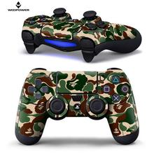 Woopower for PS4 Controller Designer Skin for Sony PlayStation 4 DualShock Wireless Controller Sticker Camouflage green logo