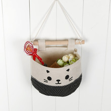 2017 new New Cotton Cartoon Cat Hanging Storage Bag Debris Pouch Wall Combination zip lock bag cloth bag suitcase organizer