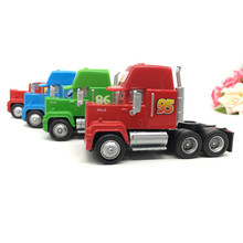 Disney Pixar Cars Toys Diecast Alloy and Plastic Mack Truck Lightning McQueen Chick Hicks Toy Model Car for Children Container(China)
