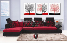 3 Panel Modern Wall Painting  oil painting canvas wall picture   decoration tree artwork abstract bedroom  2th