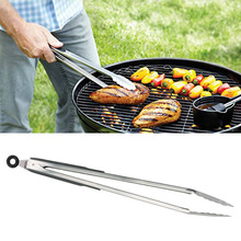 Home Kitchen helper 18''Stainless Steel Food Tongs Long  Locking Cooking Tong Barbecue Tong BBQ Salad Bread Scallop Buffet Cllip