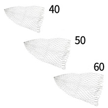 Double Line Braided Mesh Fishing Landing Net Fishing Tools Mesh Hole For Bass Trout Catch Luring Accesorry 40/50/60 cm Optional