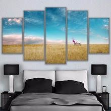 HD Printed Canvas Pictures Frame Poster Living Room Home Decor 5 Pieces Thick Growth Of Grass Breaking Bad Rv Painting Wall Art