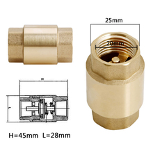 1pc 1/2'' NPT Brass Check Valve High Quality Thread In-Line Spring Vertical Check Valve 200WOG(China)
