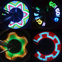 32 LED Wheel Signal Lights Colorful Rainbow for Bikes Bicycles Fixed on Cycle Spoke Light Hot