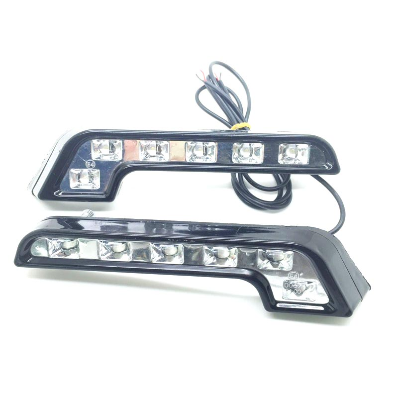 2pcs 6 LED Universal Fit L Shape Daytime Running Light DRL 12V Front Bumper Grille Insert Bright Turn Signal Lamp Free Shipping<br><br>Aliexpress