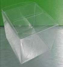 Joy Free shiping size 4*4*5cm clear Plastic gift box, Clear Plastic Gift packaging display Box(China)