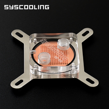 Syscooling C17 new high quality acrylic transparent cover water cooling block for computer cpu