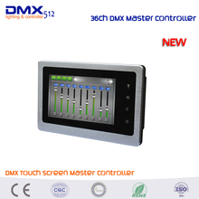 DHL free shipping DMX500 Touch screen DMX master DMX controller 36CH DMX signal output(China)