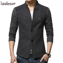 Autumn Winter Fashion Men Wool Coat(China)