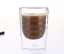 2pcs hand blown double wall Nespresso coffee glass cup mug thermal glass Caneca copos 80ml