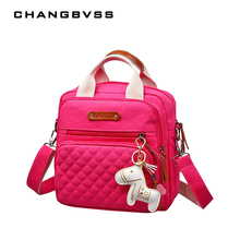 High Level Canvas Colorful Mommy Diaper Bag Baby Nappy Bags Maternity Mommy Women Backpack/Handbag/Messenger Three-In-One Bag(China)