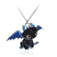 How To Train Your Dragon 2 Toothless Night Fury Necklace can dropshipping alloy Charm Pendant Cosplay Accessories Gift(China)