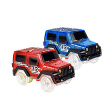 Electronic Toys For Flexible Track Electronics Racing Car Toys With Flashing Lights Model Car Toys For Kid Flash in the Dark(China)