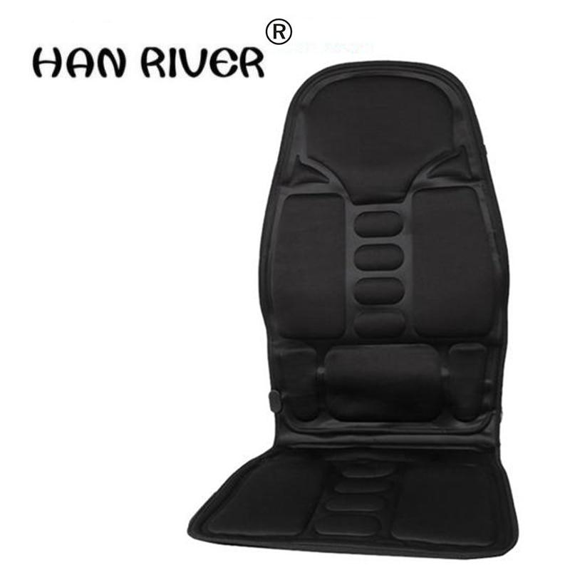 110-220-24V Car Home Office Full-BodyMassage Cushion. Back Neck Massage Chair Massage Relaxation Car Seat. Heat Vibrate Mattress<br>